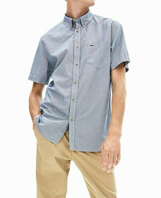 LACOSTE CHEMISE CASUAL MANCHES CO BLUE