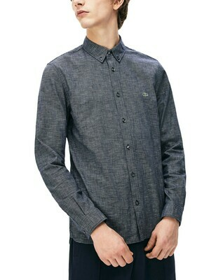 LACOSTE CHEMISE CASUAL MANCHES LO DARK BLUE