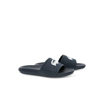 LACOSTE CROCO SLIDES 119 1 CMA NAVY/WHITE