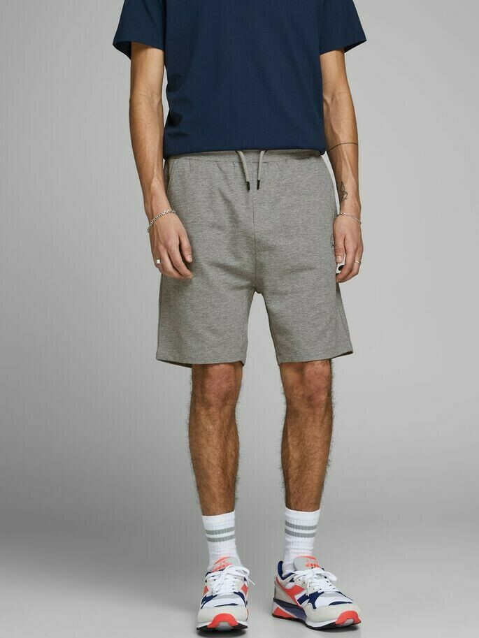 JACK&JONES JJI SHARK JJSWEAT SHORT VIY LIGHT GREY MELANGE