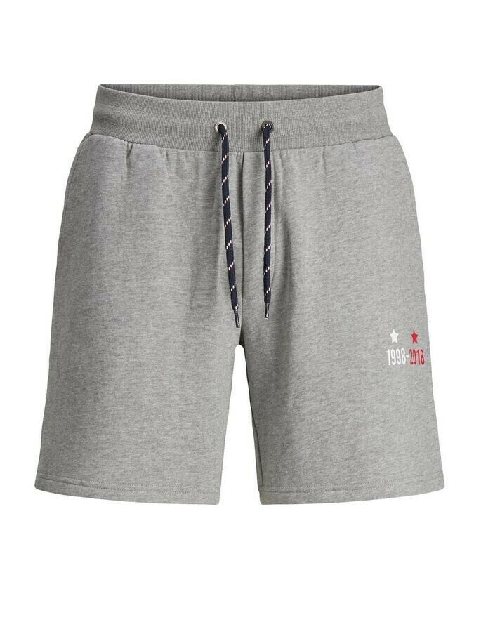 JACK&JONES JJILION SWEAT SHORT GMS FR LIGHT GREY MELANGE
