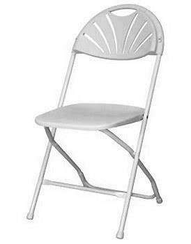 Chair Folding White Wedding Plastic
