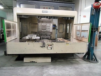 "1 – USED TOSHIBA BMC 100E 40"" X 40"" (2) PALLET FULL A-AXIS HORIZONTAL MACHINING CENTER"