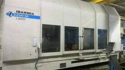 "1 – USED 41"" X 180"" IBARMIA CNC TRAVELING COLUMN 5X VERTICAL MACHINING CENTER"