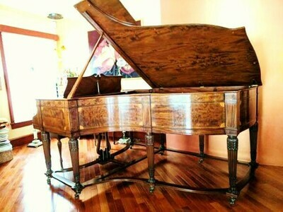 """1 – USED STEINWAY SKETCH 216 """"COLONIAL ART CASE"""" GRAND PIANO"""