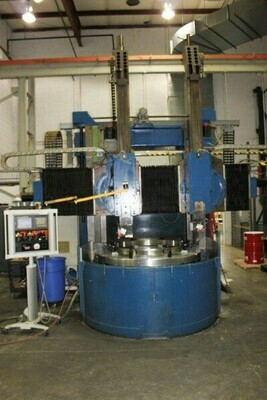 """1 – USED 60"""" GRAY VERTICAL BORING MILL 4- AXIS WITH DUAL RAMS"""