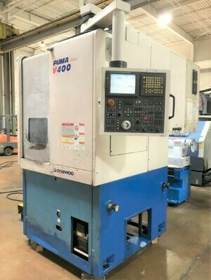 """2 – USED DAEWOO 24"""" 2-AXIS VERTICAL TURNING CENTERS"""