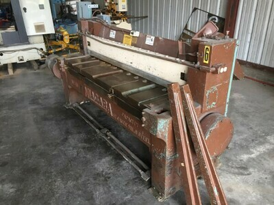 "1 - USED 72"" X 12 GAUGE NIAGARA NO. 48 POWER SHEAR"