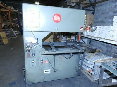 "1 - USED 36"" GROB VERTICAL BAND SAW WITH BLADE WELDER"