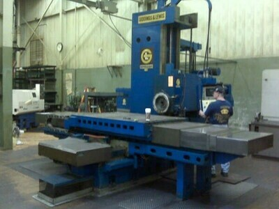 "​1 - USED 5"" GIDDINGS AND LEWIS CNC TABLE TYPE PRODUCTION CENTER"