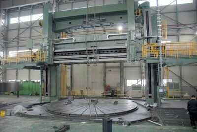 """1 – USED 300""""/354"""" NILES DOUBLE HOUSING 4-AXIS CNC VERTICAL BORING MILL"""
