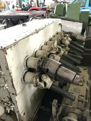 "​1 - USED 3/8"" X 72"" WMW VERGOTHA SHEET METAL LEVELING MACHINE"