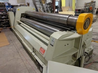 """1 – USED 10' X ½"""" CARELL FOUR ROLL CNC PLATE ROLL"""