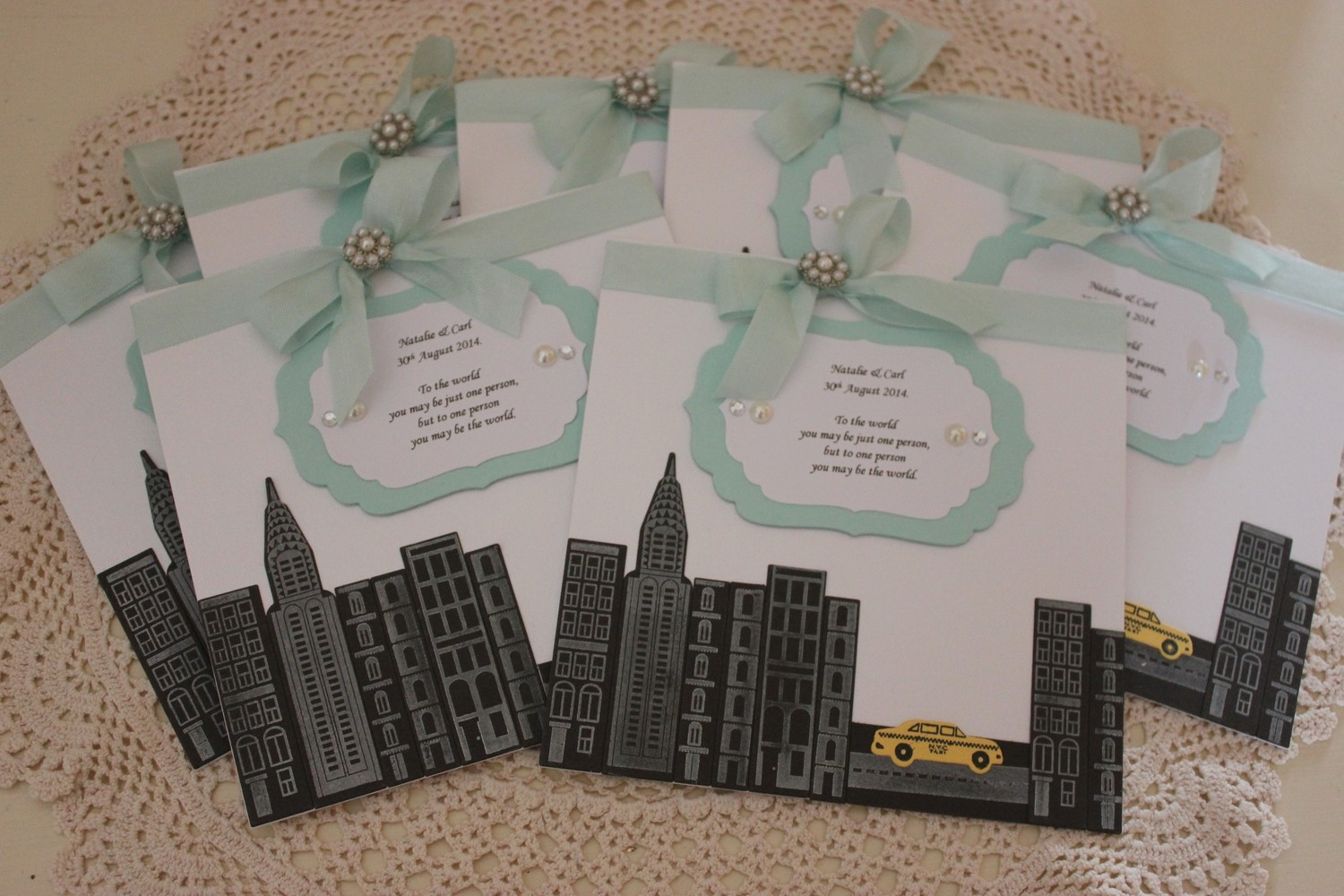 Couture Collection - New York/Breakfast at Tiffany's Wedding Invitations