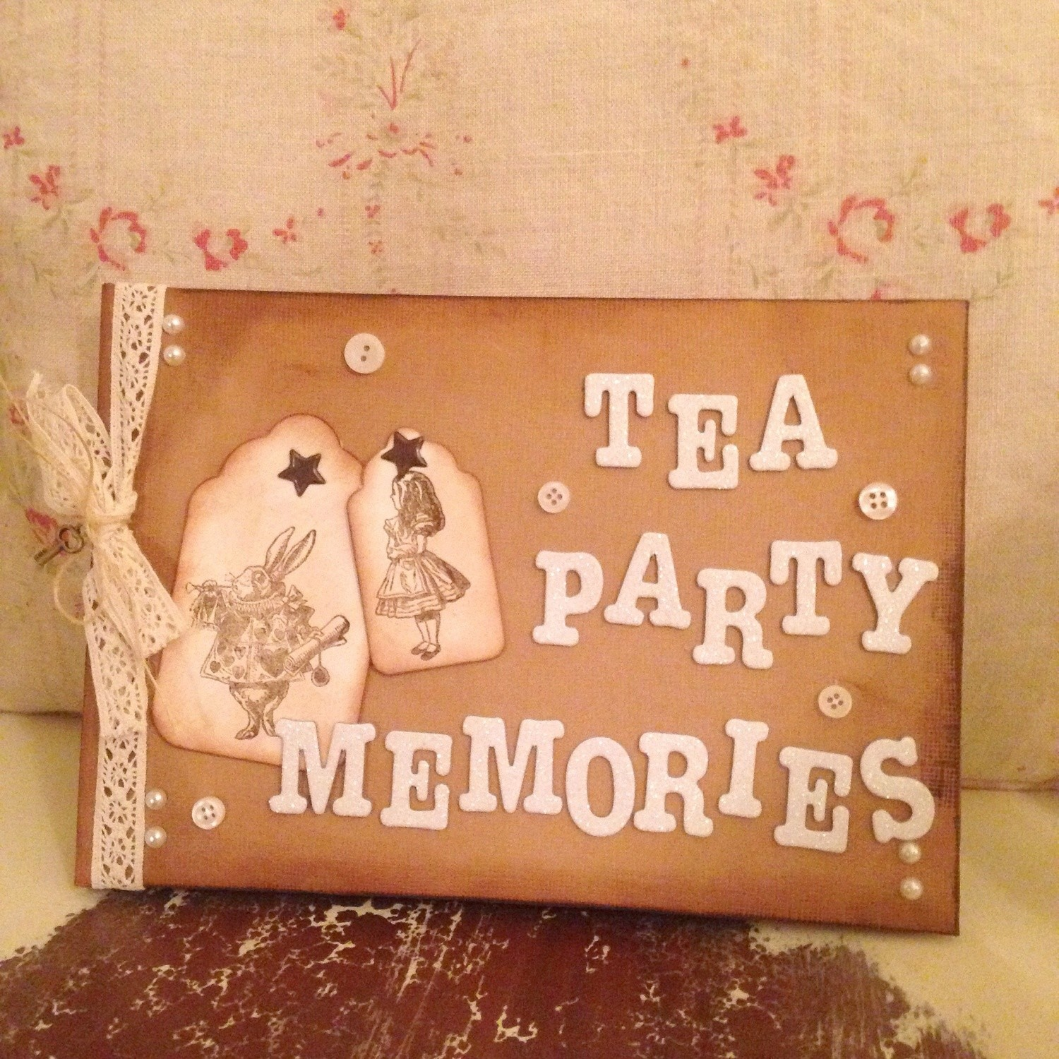 Alice in Wonderland themed Guest/Memory Book