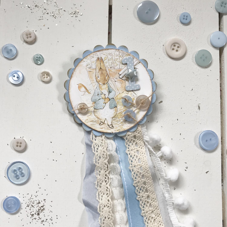 Beatrix Potter Collection ~ Peter Rabbit Rosette Badge