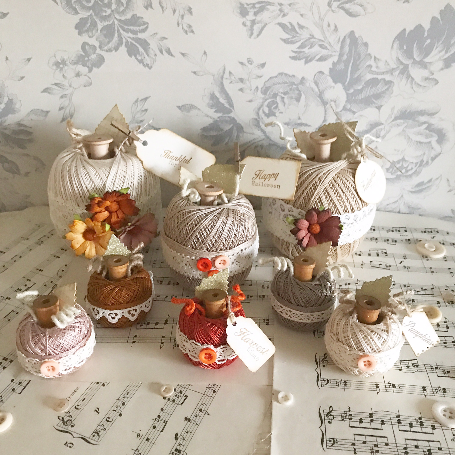 Autumn Collection ~ Tiny Rustic Pumpkins