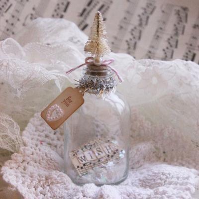 Christmas Mini Wish Bottle