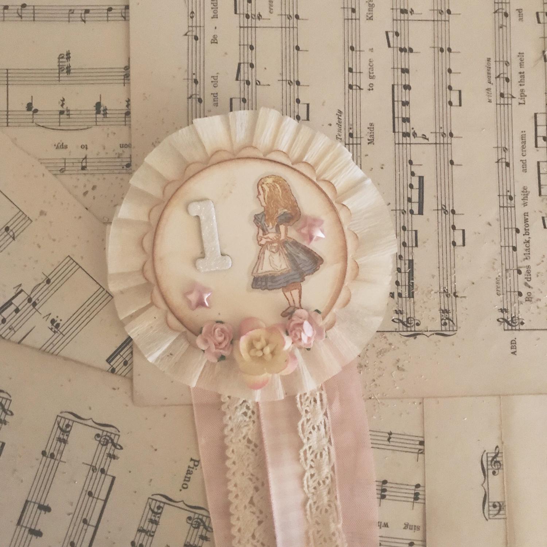 Alice in Wonderland Rosette Badge