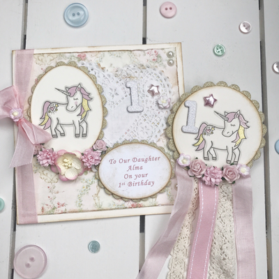 Unicorn Rosette Badge