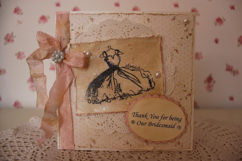 Shabby Chic Bridesmaid Thank You Card