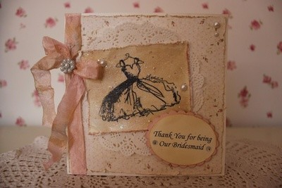 Shabby Chic Bridesmaid Thank You Card
