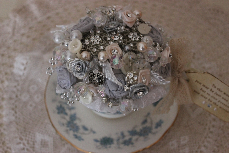 Vintage Tea Cup Arrangement