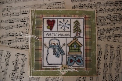 Rustic Snowman Christmas Card