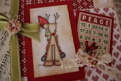 Christmas Elf and Reindeer Christmas Card