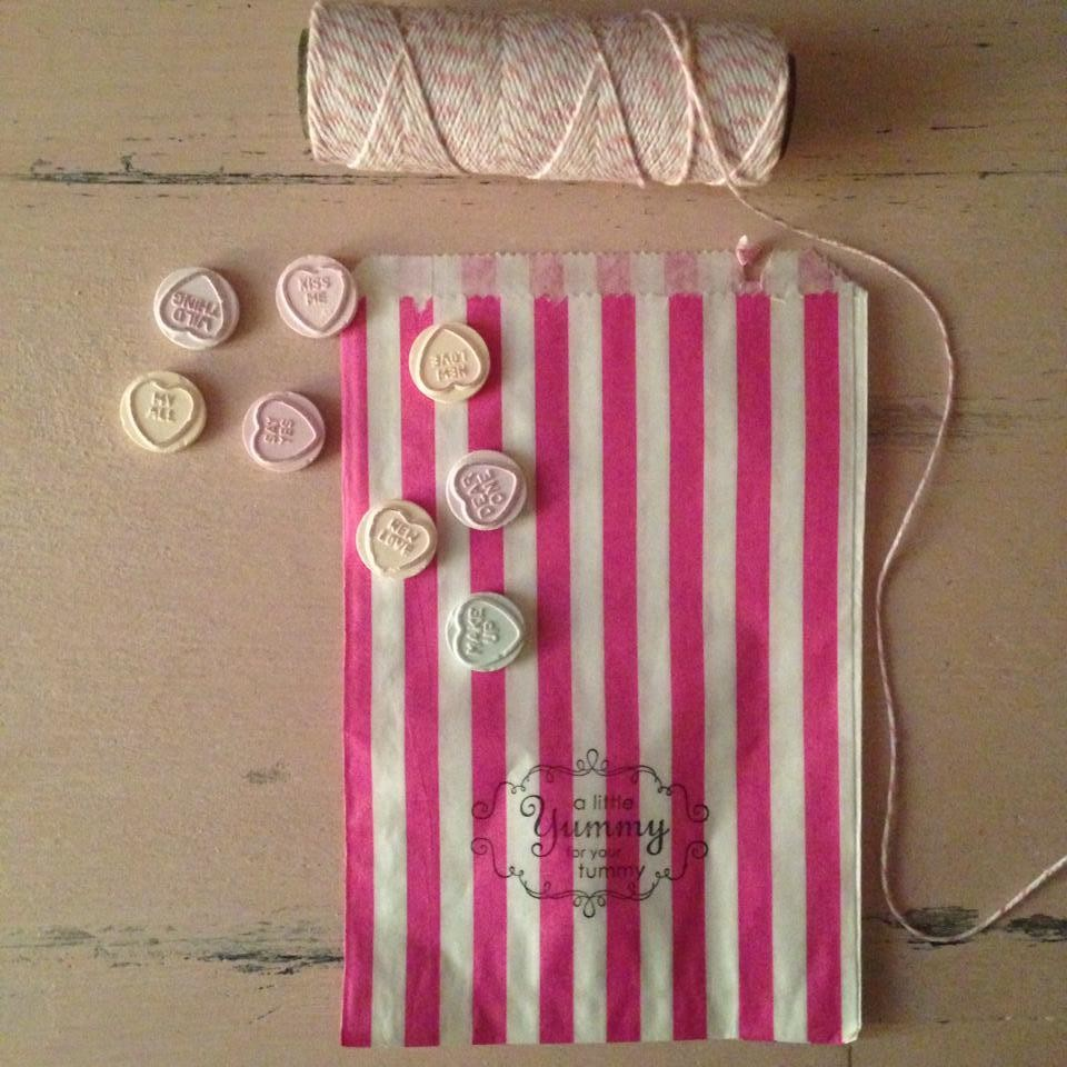 Striped Sweet/Treat/Candy Paper Bags ~ Packs of 25
