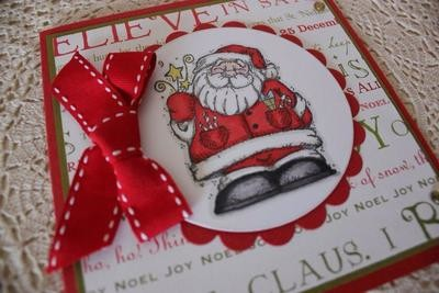 Whimsical Santa Christmas Card