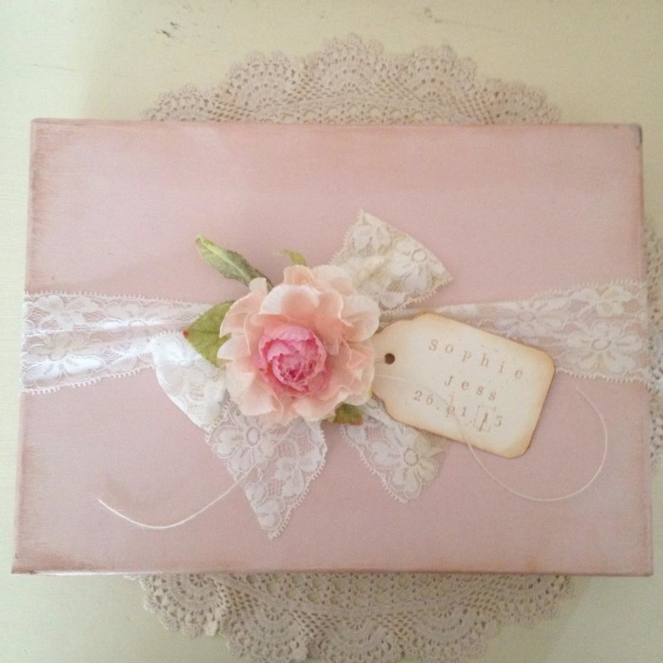 Baby Girl Shabby Chic Keepsake Box