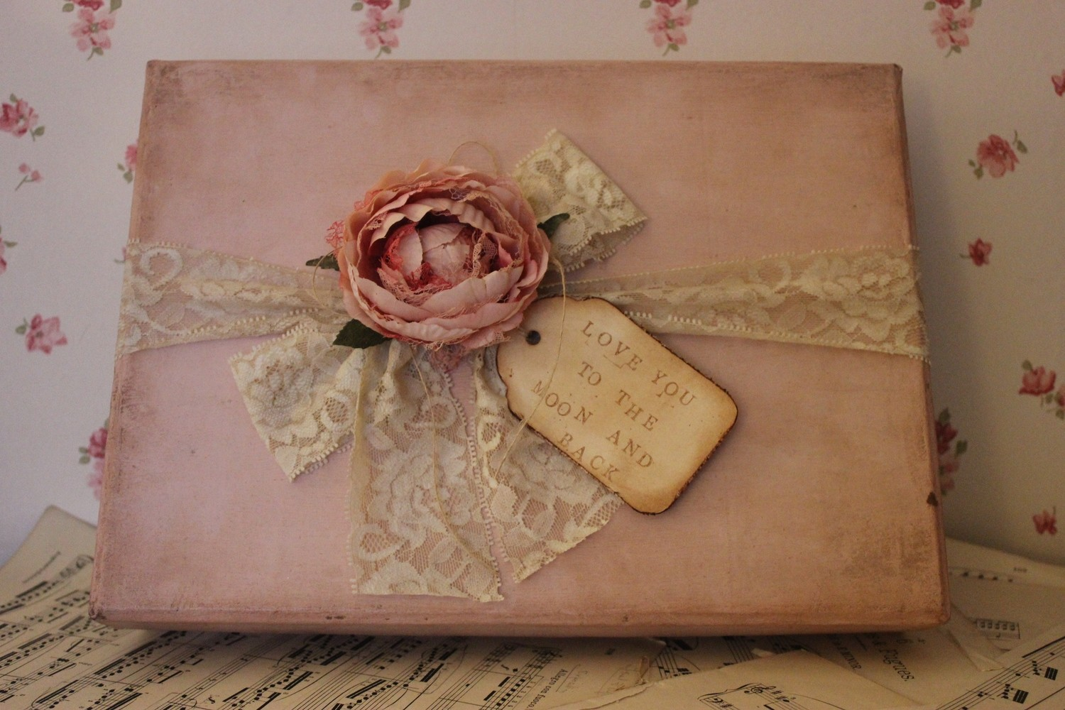 Keepsake box painted with Annie Sloan Chalk Paint