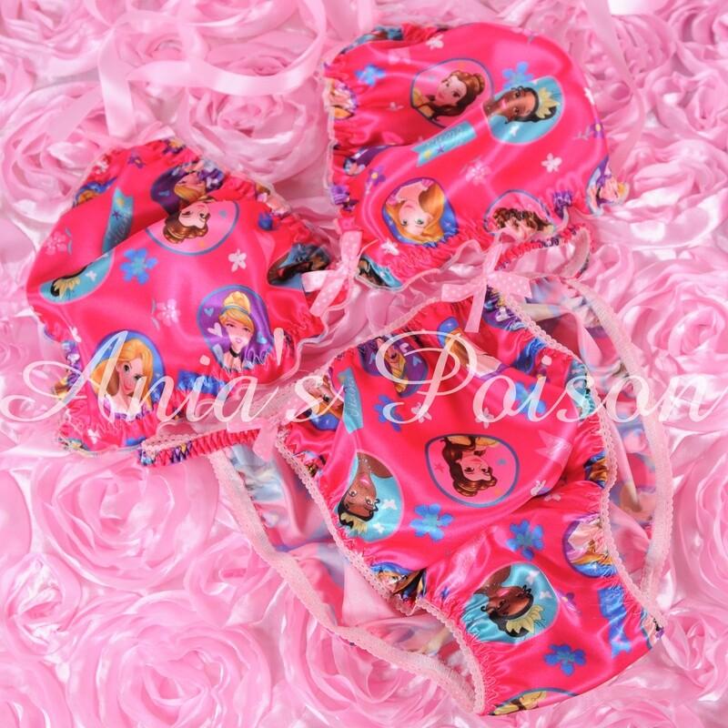 Ania's Poison MANties S - XXL Princess Prints Super Rare 100% polyester string bikini sissy mens underwear panties/ Bra / Set