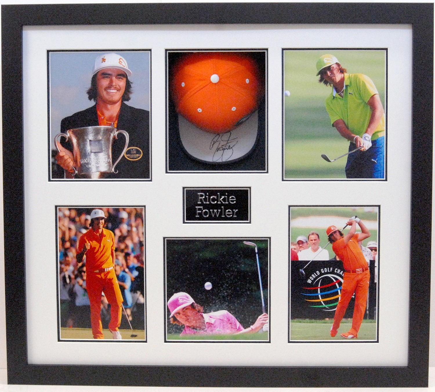 Rickie Fowler Signed Display