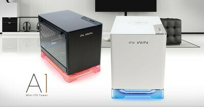 InWin A1 MINI-ITX CUBE Tempered Glass CASE with InWin 600W Power Supply