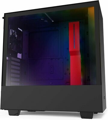 NZXT H510i Matte Red/Black ATX Mid Tower PC Gaming TG Case w/ Free NZXT Underglow 200mm