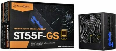 SilverStone 550W Fully Modular with 80 Plus Gold & 140mm Design Power Supply