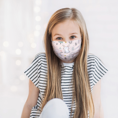Printed Face Mask With 2 Filters Small (Youth)