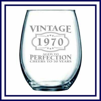 Stemless Wine Glass - 15oz.