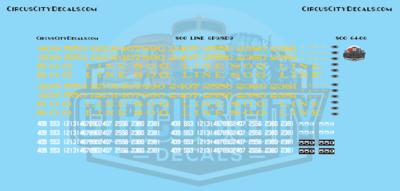 Soo Line GP9/SD9 S Scale Decal Set
