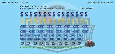CSX Chessie System MOW Vehicle Door Logos S Scale