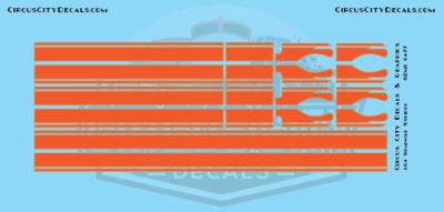 Seminole Stripe Orange/Gold Outline 1:64 Scale