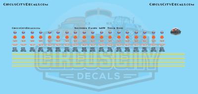 SP Southern Pacific MOW Truck Door S Scale Decals