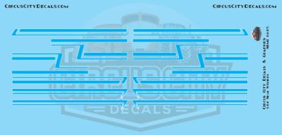 Bright Blue Semi Stripe Graphic 1:64 Scale