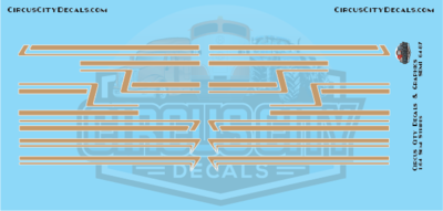 Tan Semi Stripe Graphic 1:64 Scale