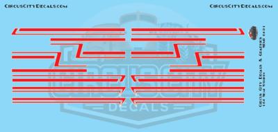 Red Semi Stripe Graphic 1:64 Scale