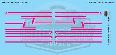Magenta Pink Semi Stripe Graphic 1:64 Scale