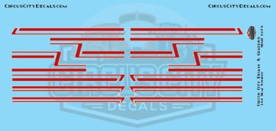 Dark Red Semi Stripe Graphic 1:64 Scale