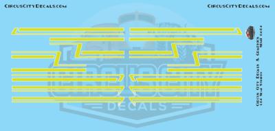 Lime Green Semi Stripe Graphic 1:64 Scale